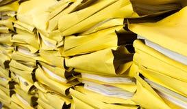 Alte Papierarchive Lizenzfreies Stockfoto