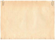 Alte Papierbeschaffenheit mit Klipps Stockfoto