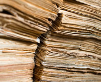 Alte Papierdokumente im Archiv Stockfotografie