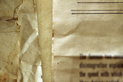 Alte Papiere Stockfotografie