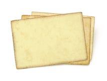 Alte Papiere des Stapels Stockfotos