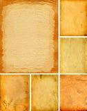 Alte Papiere eingestellt Stockbild