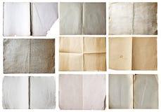 Alte Papiere eingestellt Stockfotografie