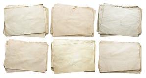 Alte Papiere eingestellt getrennt Stockfotografie