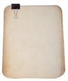 Alte Papiere mit Heftklammer Stockbild