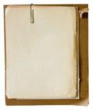 Alte Papiere mit Papierklammer Stockbild