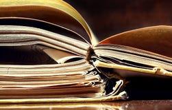 Alte Papiere und Bücher Lizenzfreies Stockbild