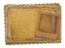Alte Papiere und grunge Plättchen lizenzfreie abbildung