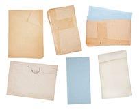 Alte Papierhintergründe eingestellt Stockfotos