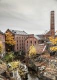 Alte Papierindustrie in Norwegen lizenzfreies stockfoto