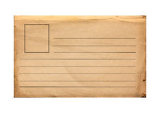Alte Papierpostkarte mit Linien Stockfotos