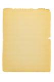 Alte Papierseite mit heftigen Rändern Lizenzfreies Stockbild