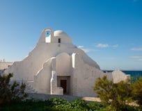Alte Paraportiani Kirche auf der Insel von Mykonos Stockfoto