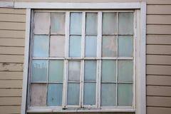 Alte Pastellfensterwand Lizenzfreies Stockbild
