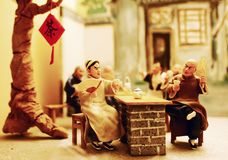 Alte Peking-Lehmfigürchen Lizenzfreies Stockfoto