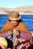 Alte peruanische Frau Stockbild