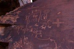 Alte Petroglyphen Stockbilder