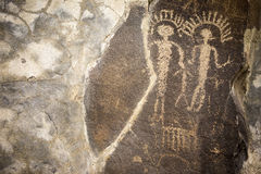 Alte Petroglyphen Cliff Drawings Ginko Petrified Forest Washington Stockbild