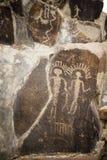 Alte Petroglyphen Cliff Drawings Ginko Petrified Forest Washington Stockfotografie