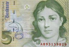 Alte Pfeifen-DM-Banknote, Bill Stockfotografie