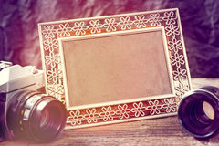Alte photograpy Gegenstände stockbild