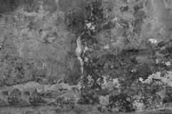 Alte pickelige befleckte Betonmauer Stockfoto