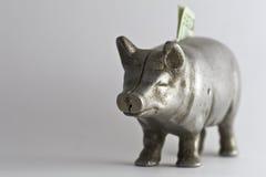 Alte Piggy Querneigung mit 20 Lizenzfreie Stockbilder