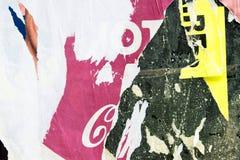 Alte Plakate Stockfoto