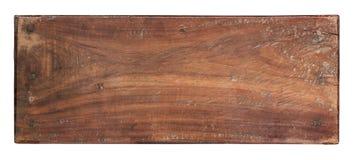 Alte Planke des Holzes auf weißem Hintergrund Stockfoto