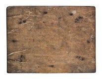 Alte Planke des Holzes auf weißem Hintergrund Stockfotos