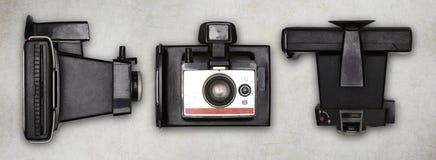 Alte polaroidfotokamera Lizenzfreie Stockbilder