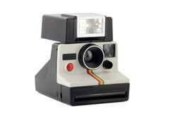 Alte polaroidkamera getrennt auf Weiß Stockbild