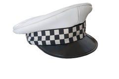 Alte Policemans-Kappe Stockfotografie