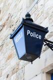 Alte Polizei-Laterne Stockfotos