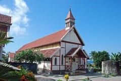 Alte portugiesische katholische Kirche, Flores, Indonesien Stockfotografie