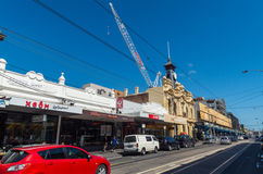 Alte Post auf Smith Street, Collingwood stockfoto