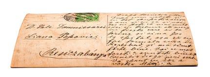 Alte Postkarte Stockbild