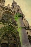 Alte Postkarte mit Peter und Paul Cathedral in Ostende, Belgien 1 Lizenzfreie Stockfotografie