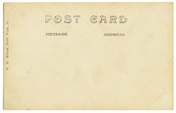 Alte Postkarte-Rückseite Lizenzfreie Stockfotos