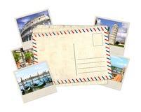 Alte Postkarte und Fotos Stockfotos