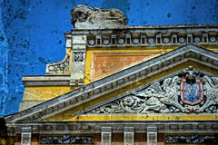 Alte Postkarte von einem historischen Gebäude Timisoara 5 Stockbilder