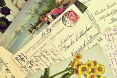 Alte Postkarten Stockfotografie