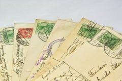 Alte Postkarten Stockfotos
