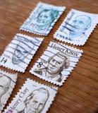 Alte Poststempel stockfotos