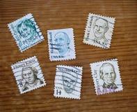 Alte Poststempel lizenzfreie stockbilder
