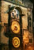 Alte Prag-astronomische Borduhr Lizenzfreies Stockbild
