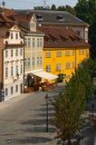 Alte Prag-Häuser stockfotos
