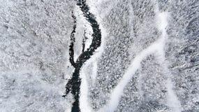 Alte precipitazioni nevose alpine nelle alpi francesi Immagine Stock