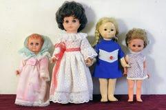Alte Puppen Stockbild