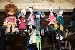 Alte Puppen eingestellt Lizenzfreies Stockfoto